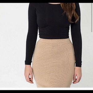 American apparel knit pencil skirt size xs